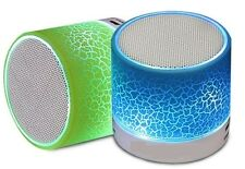 Wireless Bluetooth Speaker - LED Lights, FM Radio, USB Plug & Play, MicroSD Slot