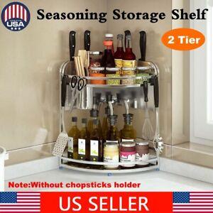 2-Tier-Stainless-Steel-Kitchen-Seasoning-Storage-Rack-Spice-Organizer-Shelf-Tool