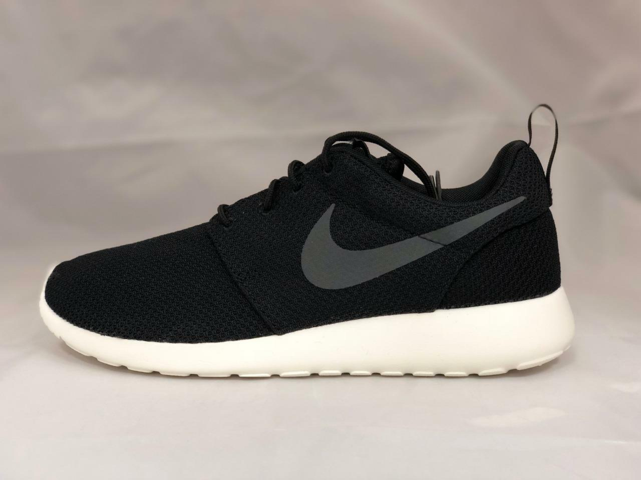 NEW MEN'S NIKE ROSHE ONE SNEAKERS 511881-010 BLACK ANTHRACITE-SAIL