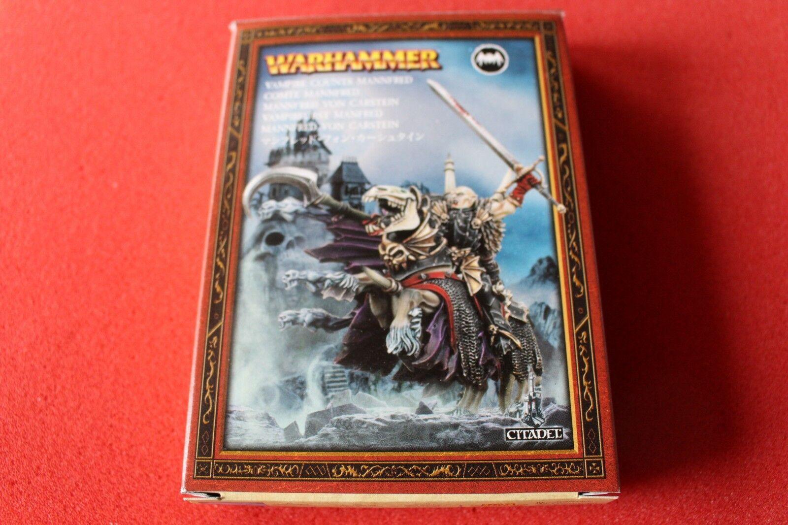 Juegos taller Warhammer Condes Vampiros MANNFrojo montado Metal no-muertos Nuevo Nuevo Y En Caja