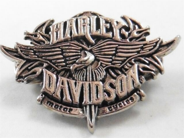 Harley Davidson Motorcycle Biker Hat Vest Jacket pin Made in USA With Wings
