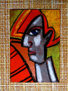 ACEO-original-pastel-painting-outsider-folk-art-brut-010310-abstract-surreal