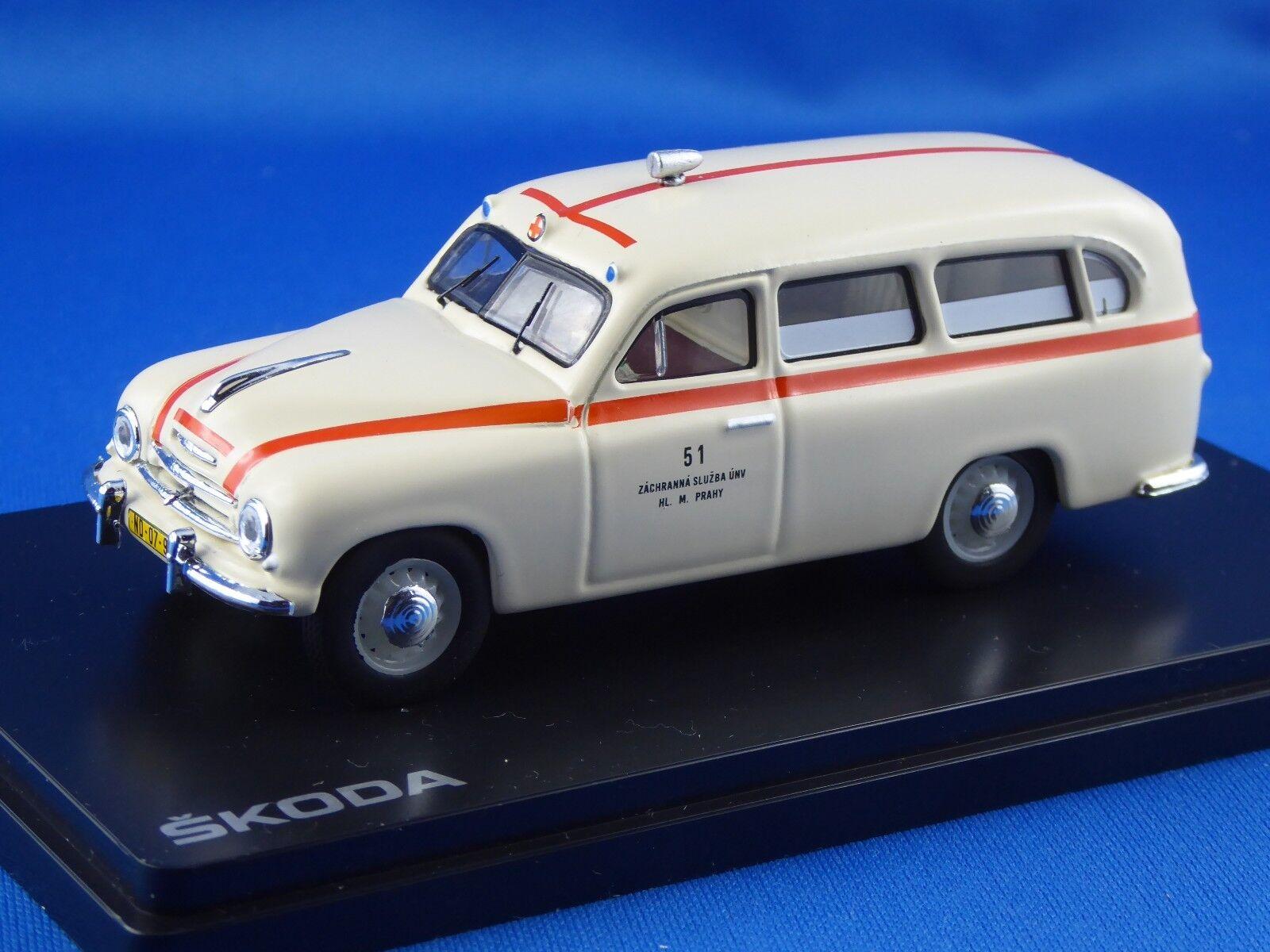 1 43 Skoda 1201, CROIX-ROUGE Prague Van 1956, nouveauté, limitée