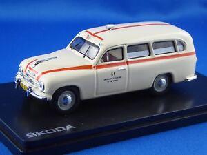 1-43-SKODA-1201-Rotes-Kreuz-Prag-Sanitaetswagen-1956-NEUHEIT-limitiert