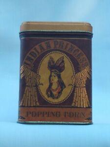 Vintage Indian Princess Popping Corn Decorative Tin