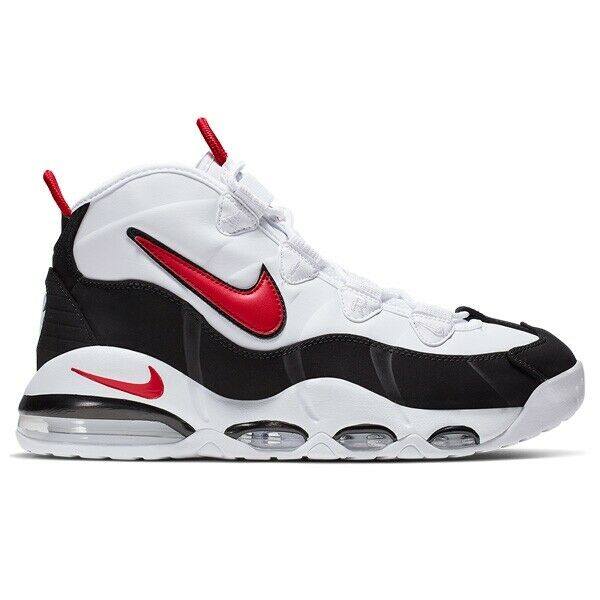 Nike AIR MAX UPTEMPO '95 Basketball Shoes CK0892 101 WHITE RED BLACK Sz4 12