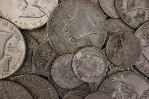MAKE OFFER Half Troy Pound  Ben Franklin Half Dollars Roosevelt Junk 90/% Silver