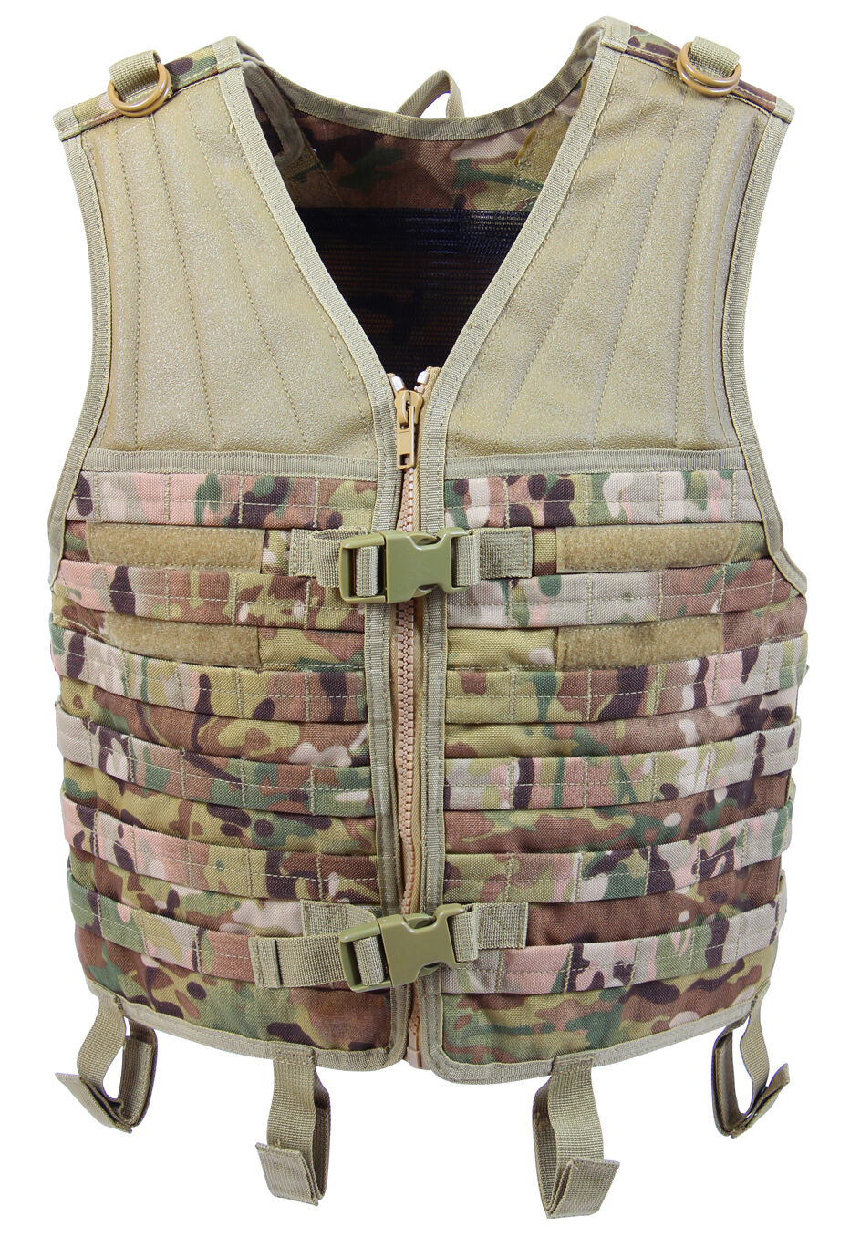 Multicam Camo Modular Military Style Tactical Vest Molle redhco 5408