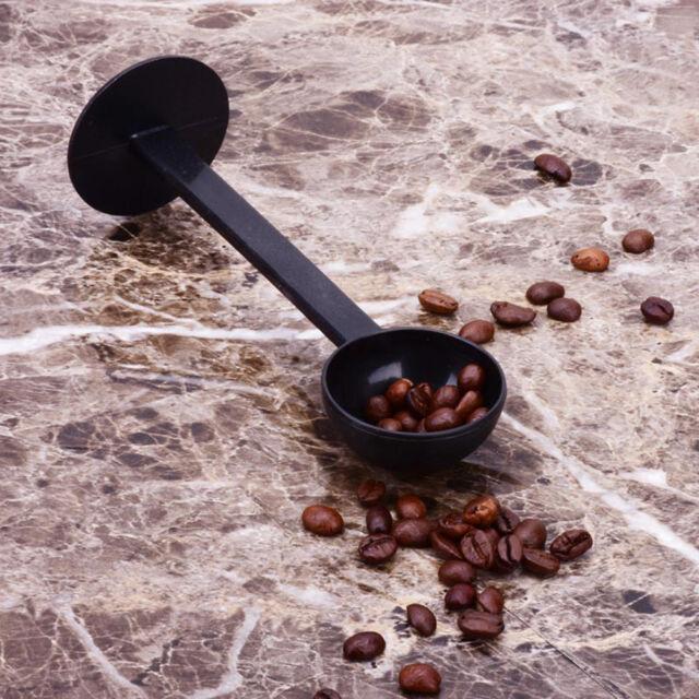 2 IN 1 Espresso Coffee Spoon Measuring Tamping Scoop Coffee Tamper 10gjbG9C