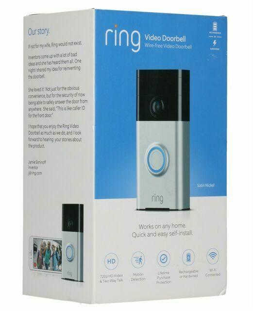 Ring 88rg000fc300 Satin Nickel Wi Fi Enabled Video Doorbell For Sale Online Ebay