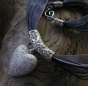 One-of-a-kind-Solid-Sterling-Silver-Heart-and-Bail-Pendant-by-KOZ-Designs
