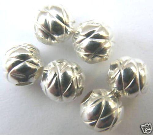 6 mm structurée balle de 925-er argent 12016.