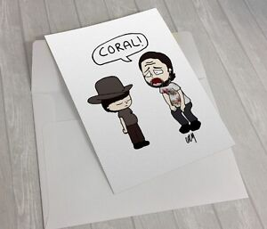 The walking dead coral meme greeting card rick grimes ebay image is loading the walking dead coral meme greeting card rick m4hsunfo