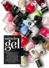 50 SALLY HANSEN MIRACLE GEL NAIL POLISH N0 LIGHT NEEDED, WHOLESALE PRICING!