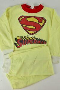 Rare-Vintage-Superman-DC-Comics-1977-Sears-Boys-Kids-L-6-6-5-Pajama-Set-USA-Made