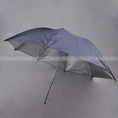 """New Studio Reflective Umbrella in Black Silver 110cm / 43"""""""