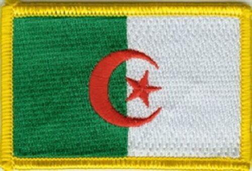 Ricamate Algeria bandiera bandiera aufbügler Patch 8 x 5 cm
