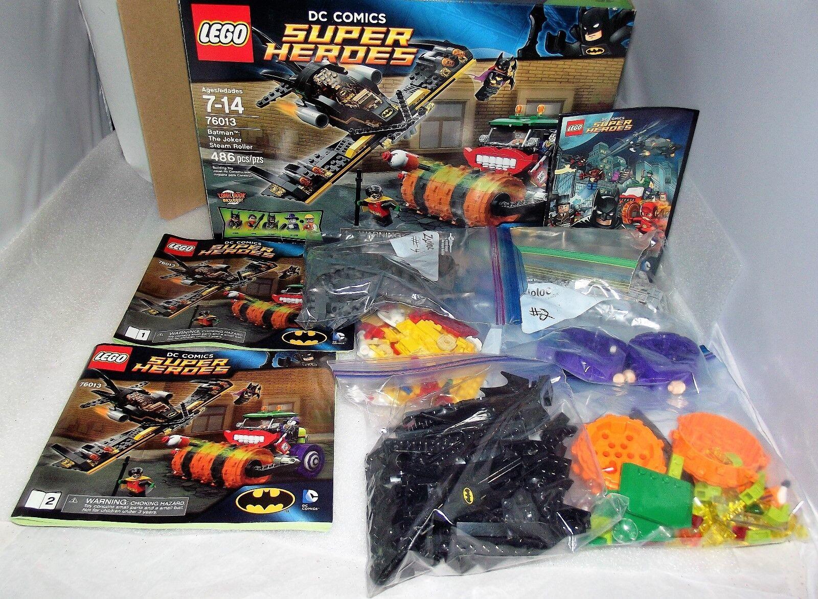 LEGO Batman The Joker Steam Roller 76013 100% Complete w/Box/Manual,Mini Figs