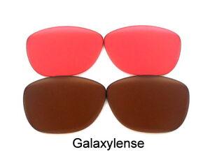 Galaxie-PRIZM-Technologie-rechange-lentilles-pour-OAKLEY-FROGSKINS-Marron