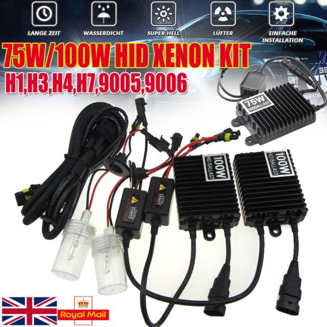 For Audi A3 8P H11 100w Super White Xenon HID Front Fog Light Bulbs Pair