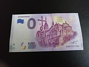 Billete 0 Euro Souvenir Covadonga 2019 Obg789bg-08005649-700838736