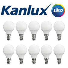10x Kanlux E14 3W LED Light Bulb Golf Ball Globe Lamp Warm White 3000K 280 Lumen