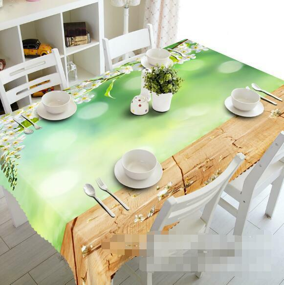 3D Falling Flower Tablecloth Table Cover Cloth Birthday Party Event AJ WALLPAPER