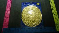 Royal Lace Round Foil Doilies, Gold, 5-inch, Pack Of 20 Very Nice Vintage