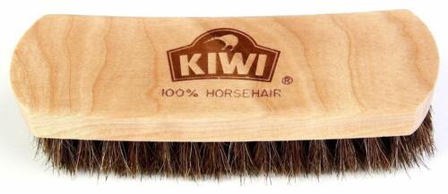 "6 /"" Kiwi care KIWI 100/% Horsehair Shine Brush"