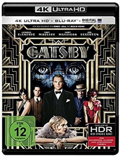Der große Gatsby 4K Ultra HD + 2D Blu-ray NEU OVP Leonardo DiCaprio