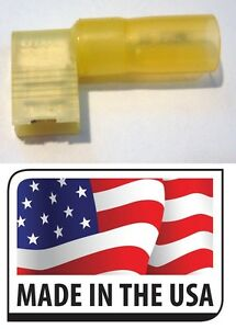 "3//8/"" HOLE 25 pcs MADE IN USA! 3M YELLOW 12-10 HEAT SHRINK RING TERMINALS"