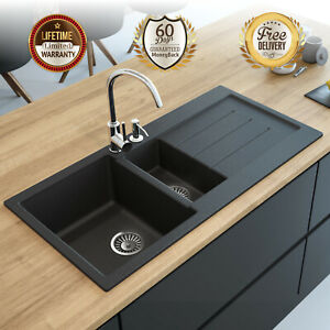 Lavello-Granite-Composite-Kitchen-Sink-Drop-In-Decoro-150LT-Right-Drainboard