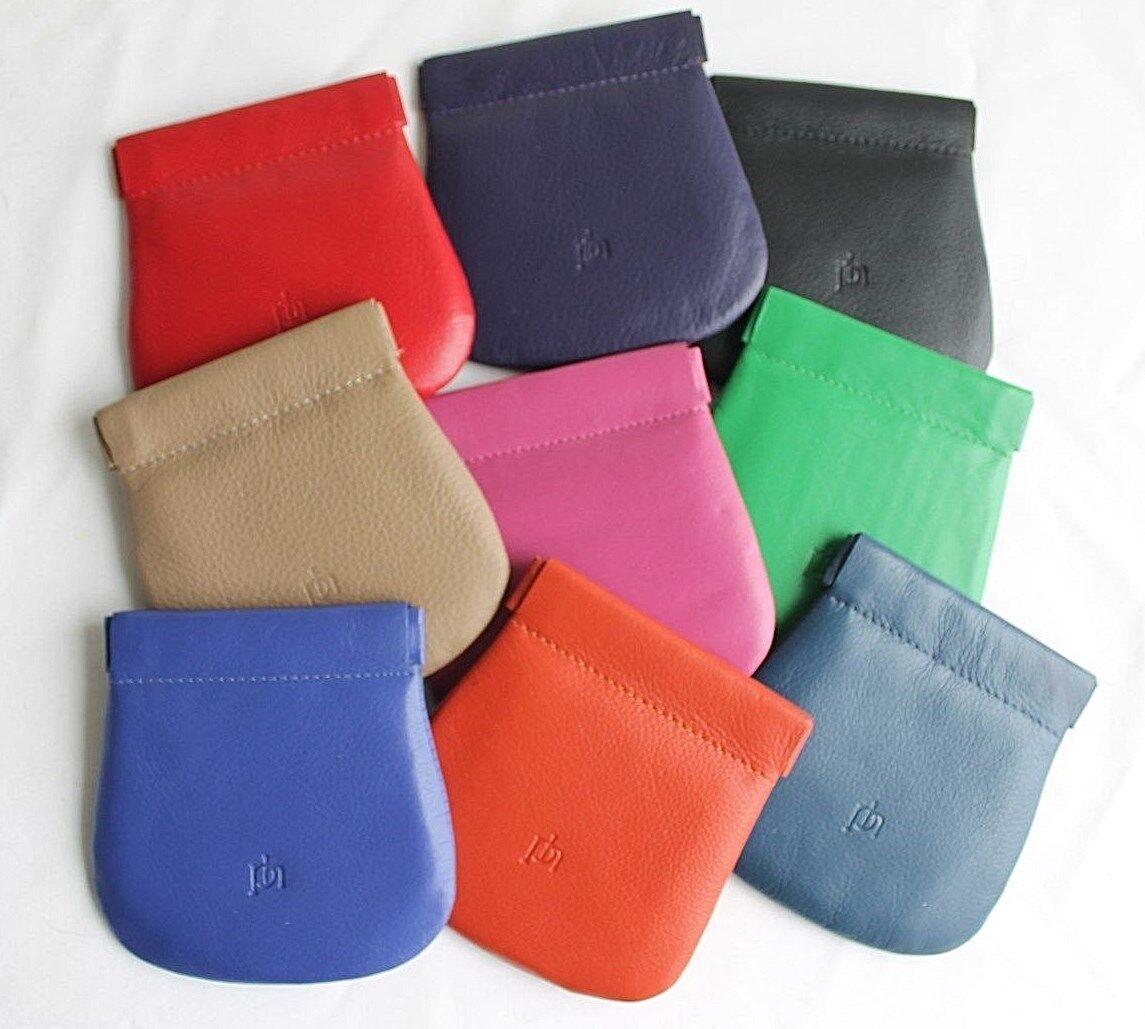 Leather Snap Shut Coin Purse * Various Vibrant Colours by Prime hide