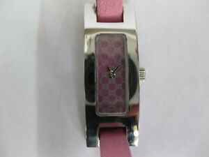 Ladies-Gucci-Stainless-Steel-Pink-Strap-GG-Dial-3900L-1017