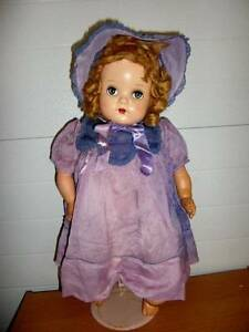 "Unmarked ~ Vintage 1940's HP/Vinyl Limbs 23"" Gorgeous Doll"