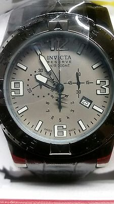 Invicta Reserve Men's Excursion 6850 Swiss Chronograph Leather Strap Wath,New