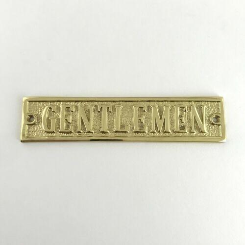 Solid Polished Brass Toilet Door Badges Ladies Gentlemen Restaurant Cafe Signs