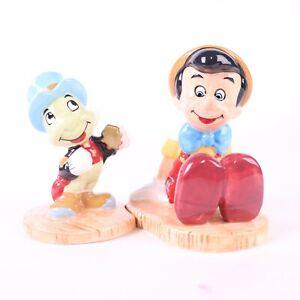 Disney Pinocchio Jiminy Cricket Ceramic Salt and Pepper Shaker Set