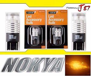 Nokya-LED-Light-7443-Amber-Orange-Nok7129-Two-Bulbs-Front-Turn-Signal-Replace-OE