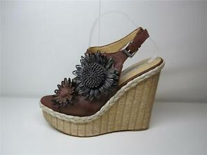 NINE-WEST-BAHIA-RP-159-OPEN-TOE-PLATFORM-HEEL-WOMEN-NET-STRAW-SHOE-BROWN-10-M