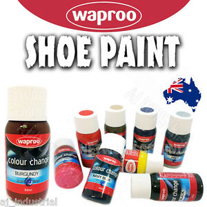 WAPROO COLOUR CHANGE SHOE PAINT - RE COLOURING LEATHER & SYNTHETIC ...
