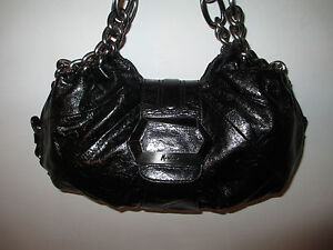 GUESS By MARCIANO Black Leather Bambi Hobo