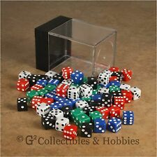 NEW 80 Multicolor Mini Tiny 8mm 6 Sided Gaming Dice Set in Box - 5 Colors Koplow
