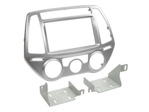 Hyundai i20 ab2013 doble DIN radio diafragma diafragma para aire acondicionado manual de plata