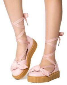 newest collection 10851 ddb59 New Women's Puma Fenty By Rihanna Bow Creeper Sandal Pink ...