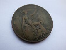 George V One Penny 1919 H Heaton Mint (myrefn10108)