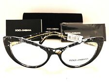 379f6c74276 Dolce   Gabbana Rx Eyeglasses DG 3285 3152 Cat Eye Black Lace 52mm New  Authentic