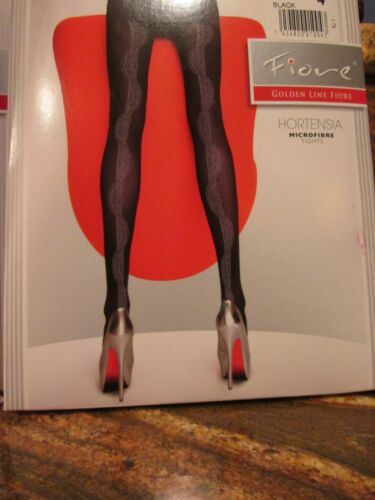 FIORE  HORTENSIA DESIGNER 40 DENIER PANTYHOSE TIGHTS 3 SIZES