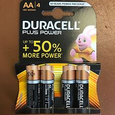 4 x AA Duracell PLUS POWER Alkaline Battery MN1500 LR6 - Up to 50% Extra Power