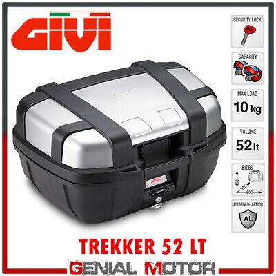 Bauletto + Kit Fix Centrale Givi Trekker 52lt Benelli Trk 502 X 2019 19